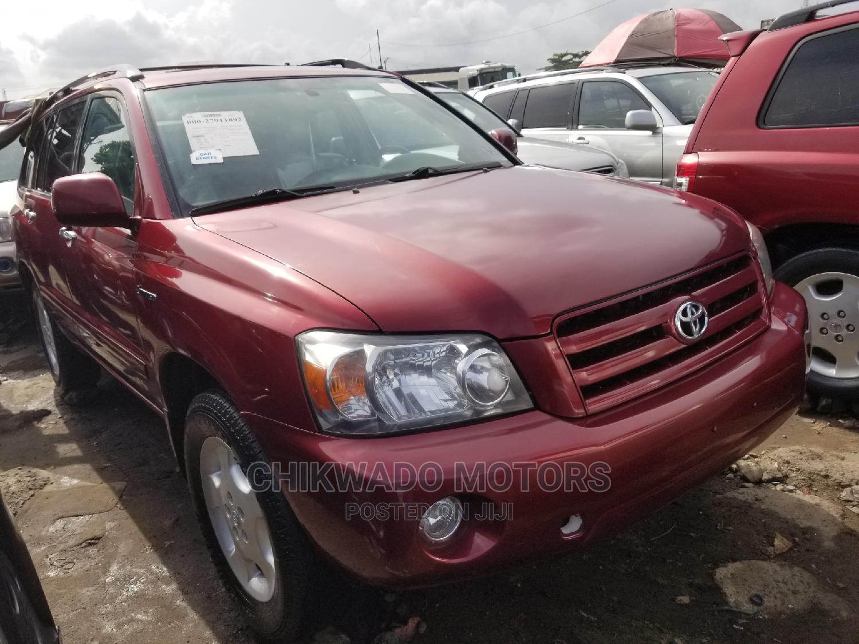 Toyota Highlander 2005 Limited V6 Red