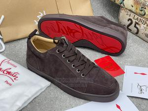 High Quality CHRISTIAN LOUBOUTIN Louis Flat Sneakers Brown | Shoes for sale in Lagos State, Magodo