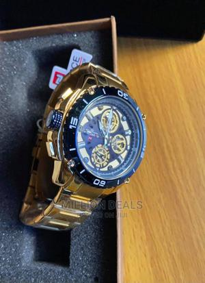 Men's Stainless Steel Gold Wrist Watch | Watches for sale in Lagos State, Ikorodu