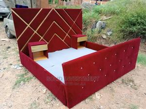 6/6 Padded Upholstery Bed Frame, With Double Side Drawers, | Furniture for sale in Lagos State, Lekki