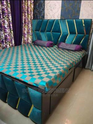 6/6 Upholstery Bed Frame, With Double Side Drawers, | Furniture for sale in Lagos State, Lekki