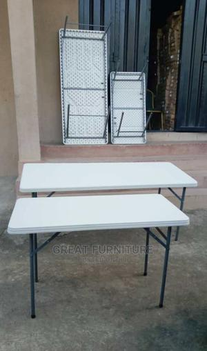4feet Plastic Table With Metal Leg | Furniture for sale in Lagos State, Badagry