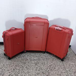 3 Set Red Plus One Small Bag Suitcase Luggage | Bags for sale in Lagos State, Ikeja