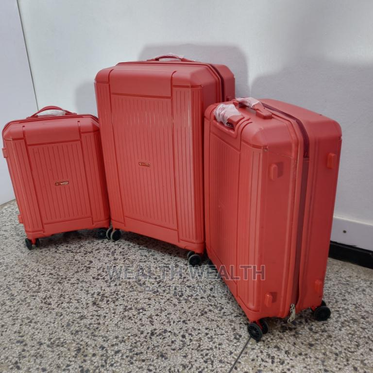 Red Luggage Suitcase Plus Plus One Small Hand Bag