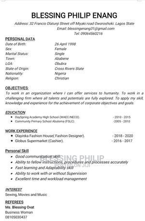 Construction Skilled Trade CV | Construction & Skilled trade CVs for sale in Cross River State, Obubra