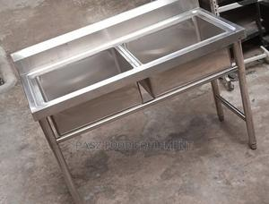 Double Stainless Steel Sink | Restaurant & Catering Equipment for sale in Lagos State, Ojo