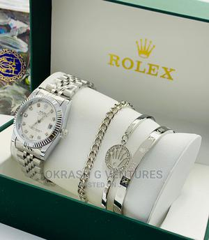 Rolex Set Silver Chain Watch for Women's | Watches for sale in Lagos State, Lagos Island (Eko)