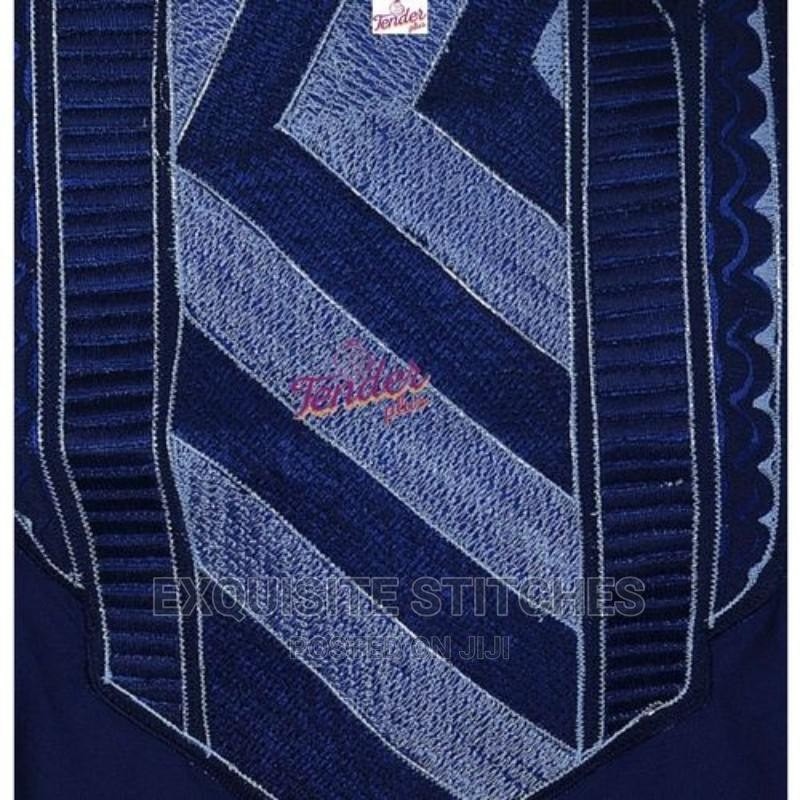 3pcs Agbada -Navy Blue/Sky Blue Combo and Embroidery | Children's Clothing for sale in Ojodu, Lagos State, Nigeria