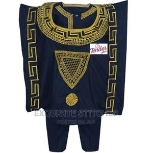 3pcs Black Boys Agbada Native With Gold Embroidery | Children's Clothing for sale in Lagos State, Ojodu