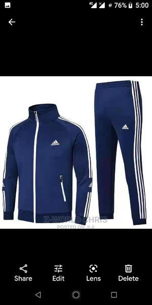 Adidas Unisex Blue Tracksuit | Clothing for sale in Lagos State, Surulere