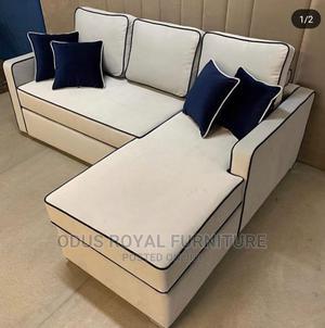 Cream L Shape Sofa   Furniture for sale in Lagos State, Ogudu