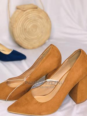 Brand New Brown Suede Shoes for Office. Block Heels 3 Inches | Shoes for sale in Enugu State, Nsukka