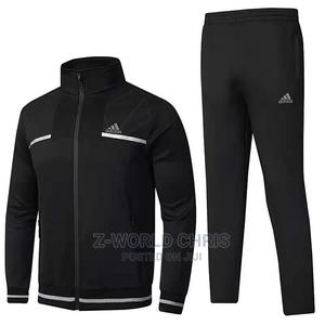 Adidas Black Unisex Tracksuit | Clothing for sale in Lagos State, Surulere