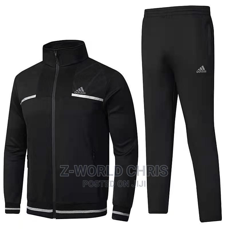 Adidas Black Unisex Tracksuit