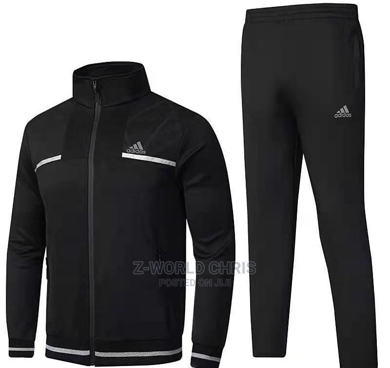 Adidas Black Unisex Tracksuit   Clothing for sale in Surulere, Lagos State, Nigeria