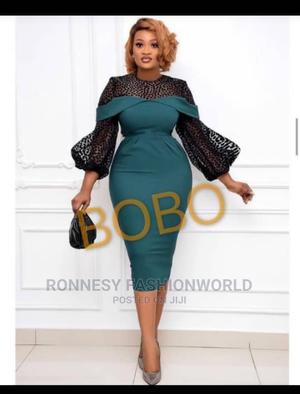 Classic Elegant Trendy Female Quality Puff Sleeves Gown | Clothing for sale in Lagos State, Ikeja