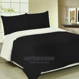 White/Black Duvet,Bedsheet With 4 Pillow Cases   Home Accessories for sale in Lagos State, Ikeja