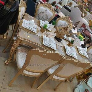 High Quality Gold Dining Table With Gold Chairs | Furniture for sale in Lagos State, Ajah