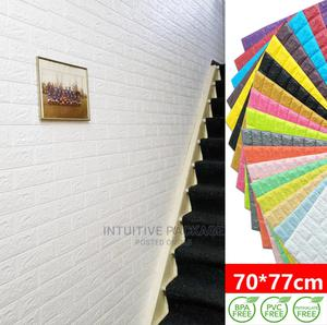 Brick Foam Panels 3D Wall Stickers Self-Adhesive DIY Wallpa | Home Accessories for sale in Lagos State, Ikeja