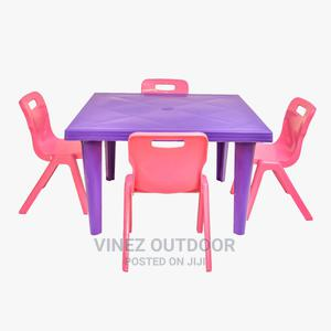 Children Plastic Chair and Table Set   Children's Furniture for sale in Lagos State, Ojo