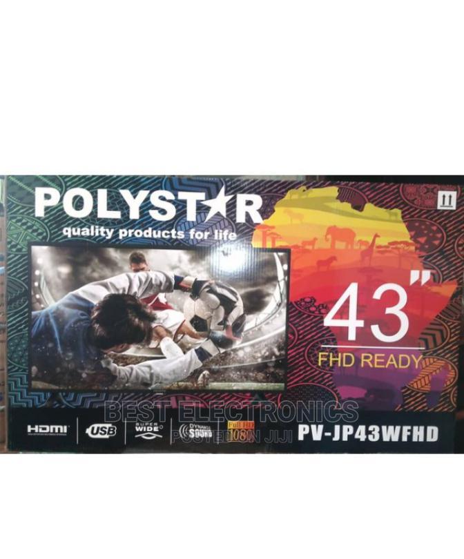 """Polystar 43"""" HD LED TV PV-JP43FHD -43 Inch"""