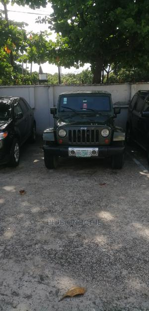 Jeep Wrangler 2008 3.8 Unlimited Sahara 4x4 Green   Cars for sale in Lagos State, Victoria Island