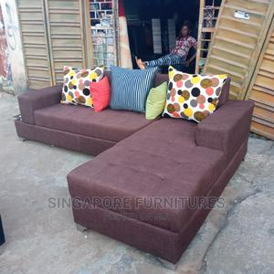 L-Shaped 5 Seater Sofa Chairs With Throw Pillows | Furniture for sale in Lagos State, Ikeja