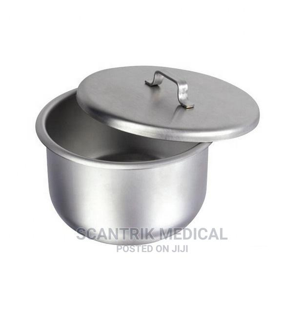 Hospital Gallipot Stainless Steel With Lid