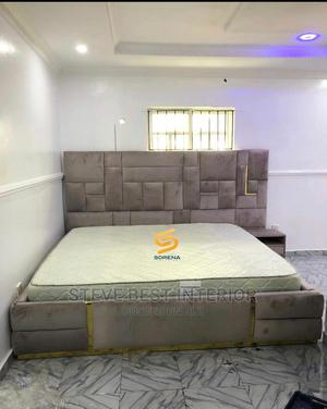 Padded Design Bed Frame With Imported Mattress   Furniture for sale in Lagos State, Ojo