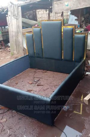Queens Bed 6ft by 6ft With Leather Cover | Furniture for sale in Edo State, Benin City