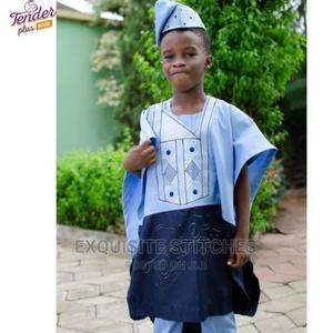 Cool Boys Blue Combo Agbada | Children's Clothing for sale in Lagos State, Ojodu
