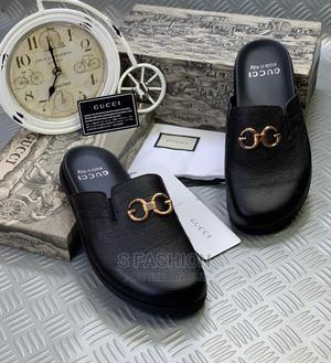 Gucci All Black Leather Slipper | Shoes for sale in Lagos State, Ikoyi