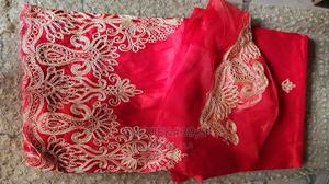 Red and Gold Embroidered Indian George With Blouse | Clothing for sale in Abuja (FCT) State, Kubwa