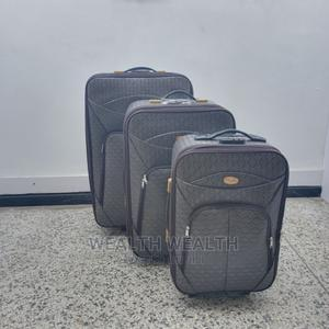 Portable Ash Leather Trolley Luggage Bag | Bags for sale in Lagos State, Ikeja