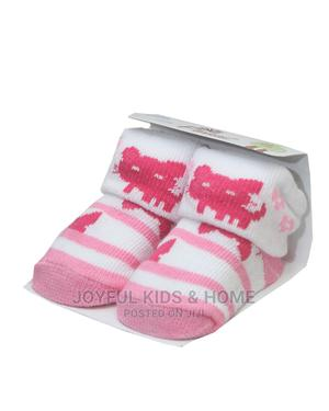 Baby Boy And Girl Socks Booties -pink ,White Blue White   Children's Clothing for sale in Lagos State, Ojota
