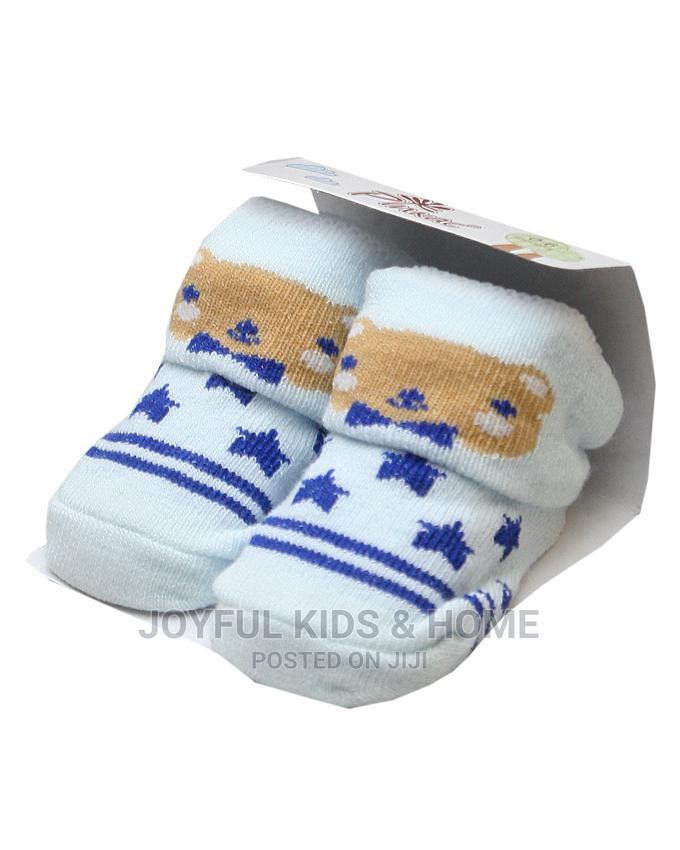 Baby Boy And Girl Socks Booties -pink ,White Blue White   Children's Clothing for sale in Ojota, Lagos State, Nigeria
