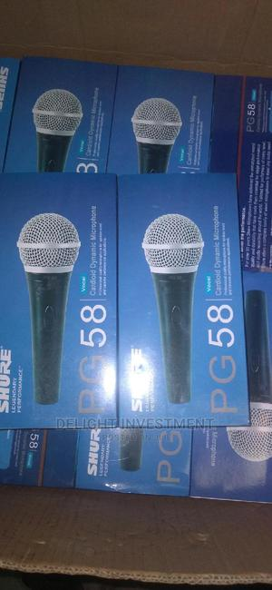 Shure Pg 58 Wired Microphone   Audio & Music Equipment for sale in Lagos State, Abule Egba