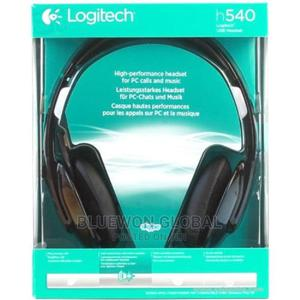 Logitech H540 USB Headset With Noise-cancelling Mic Logitech   Headphones for sale in Lagos State, Ikeja