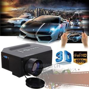 Multimedia 8000 Lumen HD Projector 3D LED HDMI VGA TV AV | TV & DVD Equipment for sale in Lagos State, Ikeja
