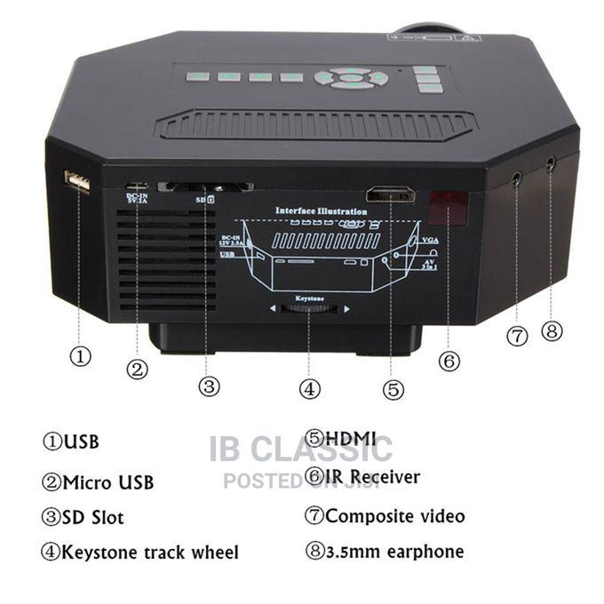 HD Projector 3D LED Home Theater 8000 Lumens HDMI VGA TV AV | Accessories & Supplies for Electronics for sale in Surulere, Lagos State, Nigeria