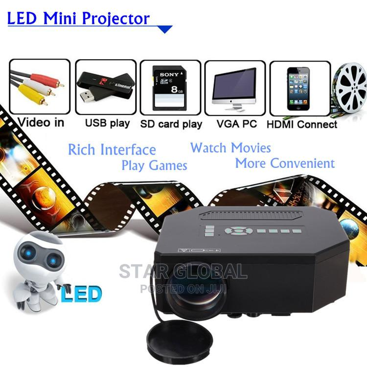 Home Theater Cinema 3D LED Projector 8000 Lumens HDMI TV AV   Accessories & Supplies for Electronics for sale in Lekki, Lagos State, Nigeria