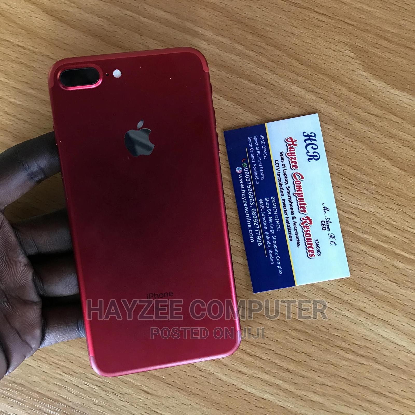Apple iPhone 7 Plus 32 GB Red   Mobile Phones for sale in Ibadan, Oyo State, Nigeria