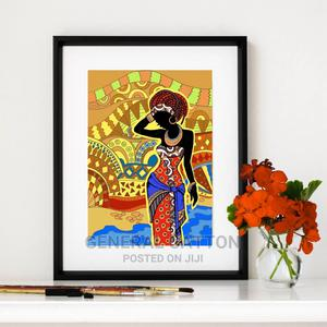 Beautiful Black Woman Art Prints Wall Picture , African | Arts & Crafts for sale in Lagos State, Victoria Island