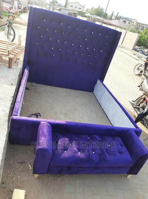 6by6 Upholstery Bed With Automan.   Furniture for sale in Lagos State, Ojo