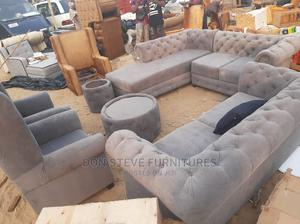 Padded Sofa Chair With Center Table | Furniture for sale in Lagos State, Ojo