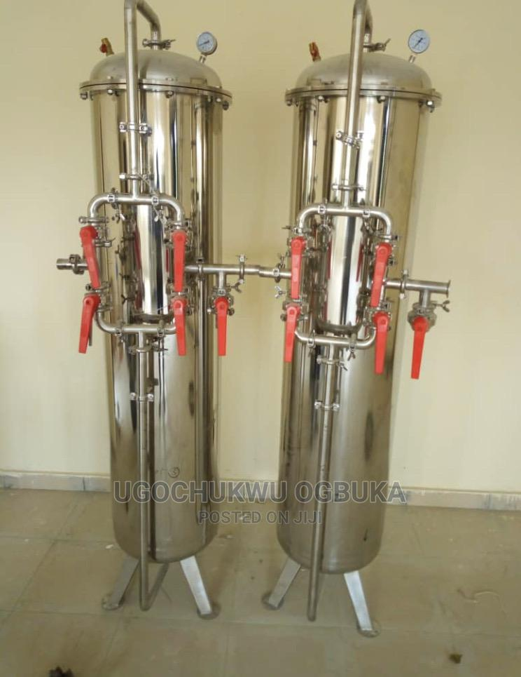 Stainless Hard Water Treatment Water Purification Media Tank