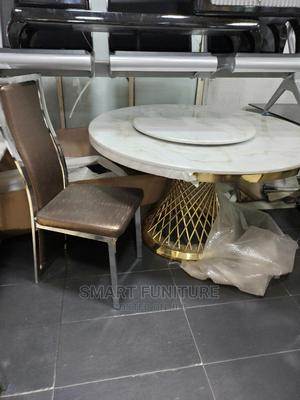 Strong Marble Round Dining Table | Furniture for sale in Lagos State, Ajah
