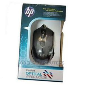 Hp Genuine Original Comfort Optical Wired Mouse - Black | Computer Accessories  for sale in Lagos State, Ikeja