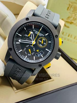 Burberry Chronograph Black Rubber Strap Watch | Watches for sale in Lagos State, Lagos Island (Eko)