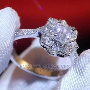 Cubic Zirconia Silver Engagement Ring   Wedding Wear & Accessories for sale in Lagos State, Surulere